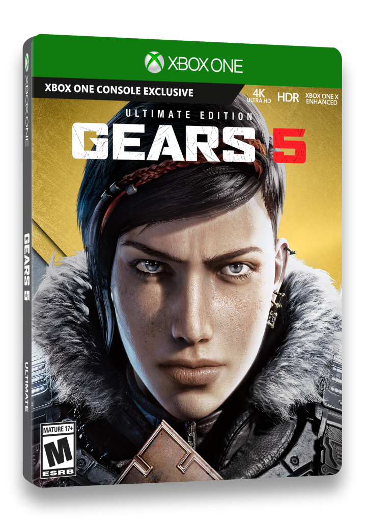 Gears 5 Ultimate Edition Xbox One box cover