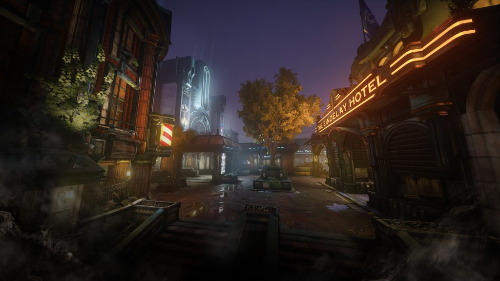 An entertainment district of a new COG settlement