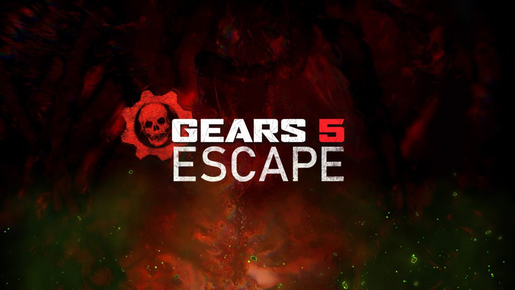 Escape Explained: Swarm Hive background with Gears 5 Escape logo