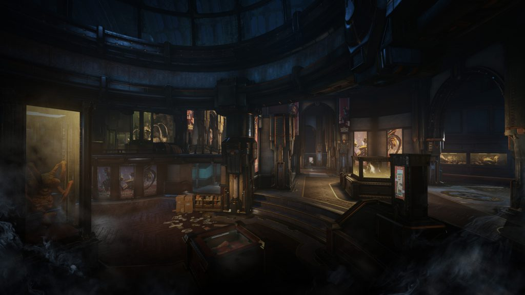 A dark new COG Museum with exhibits of the Locust