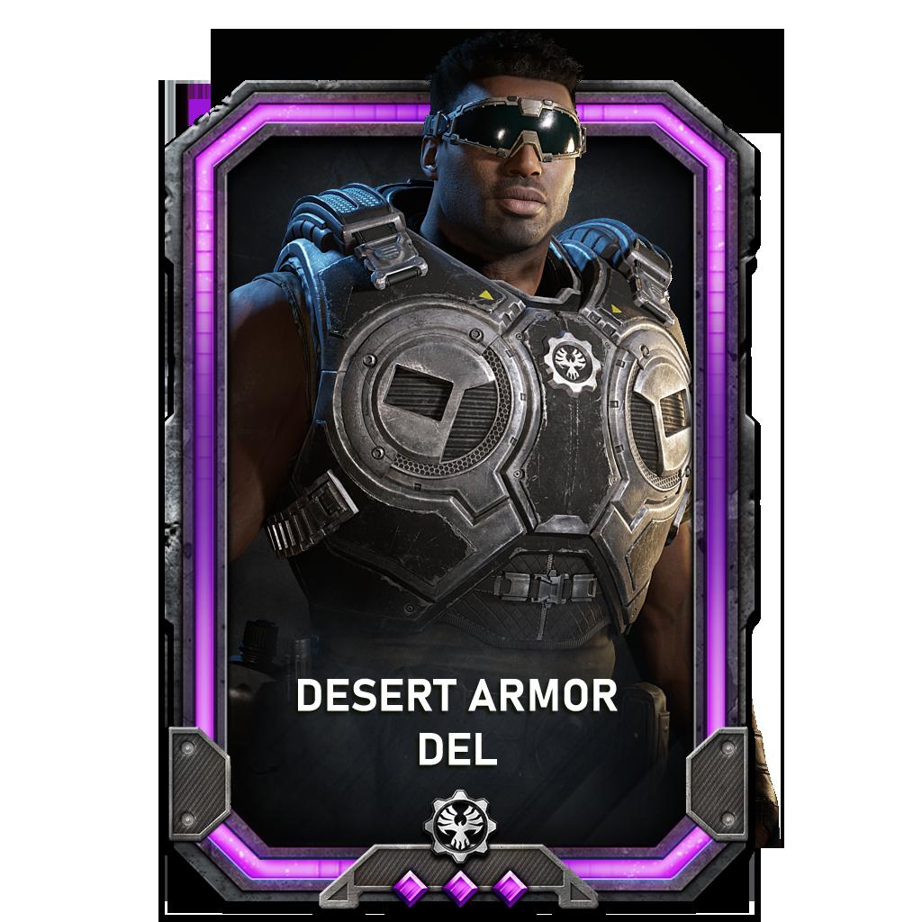 Del in a Desert Armor variant