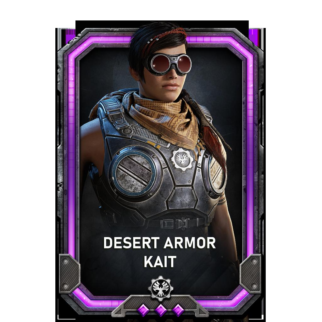Kait in a Desert Armor variant
