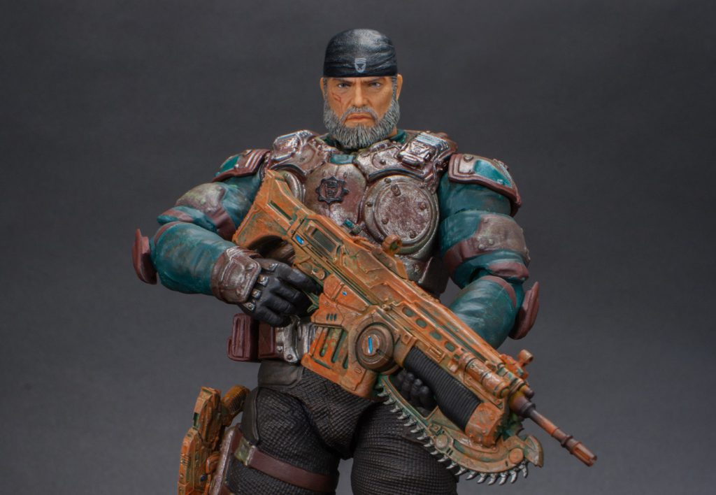 Vintage Marcus variant of the Storm Collectible's figure stands posed with a Lancer.