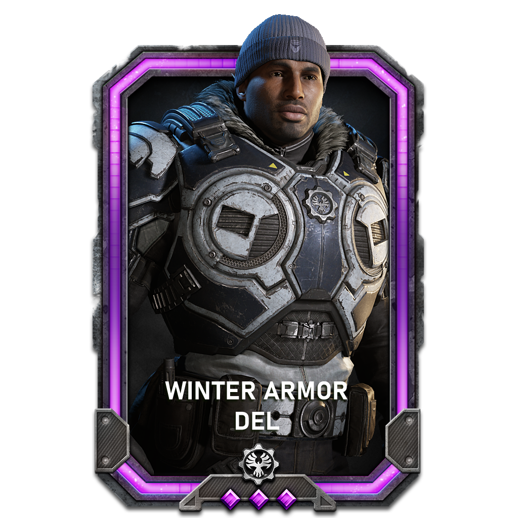 Del in a Winter Armor variant