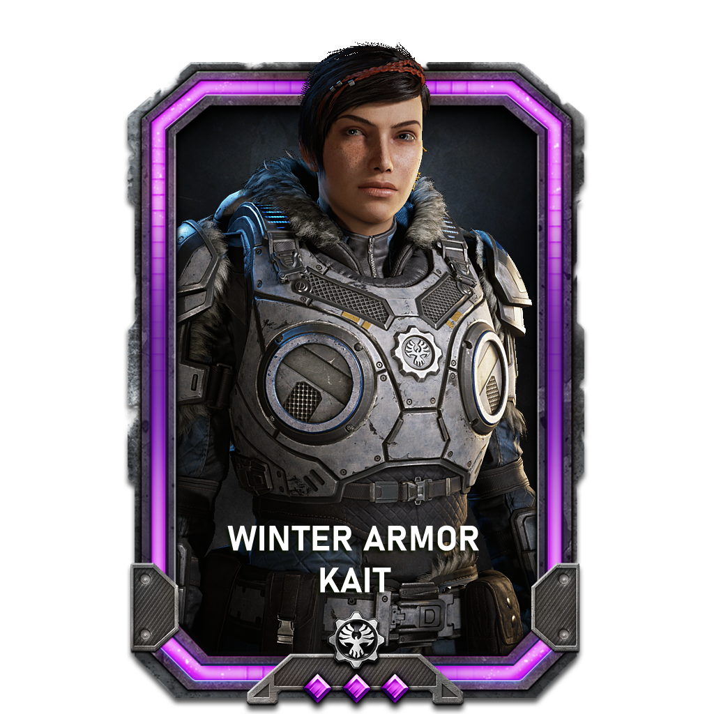 Kait in a Winter Armor variant