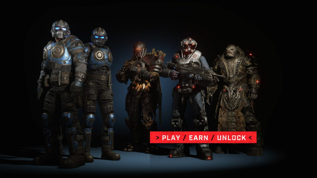 COG Gear Male and Female, DeeBee, Warden and General RAAM stand together