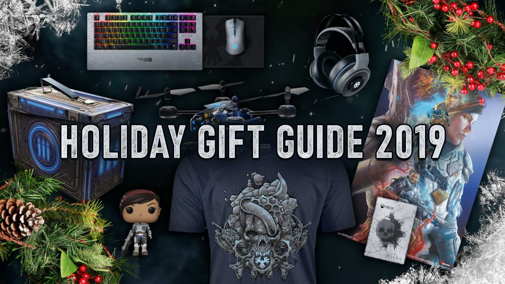 A selection of Gears merch as part of the Holiday Gift Guide 2019 promotion