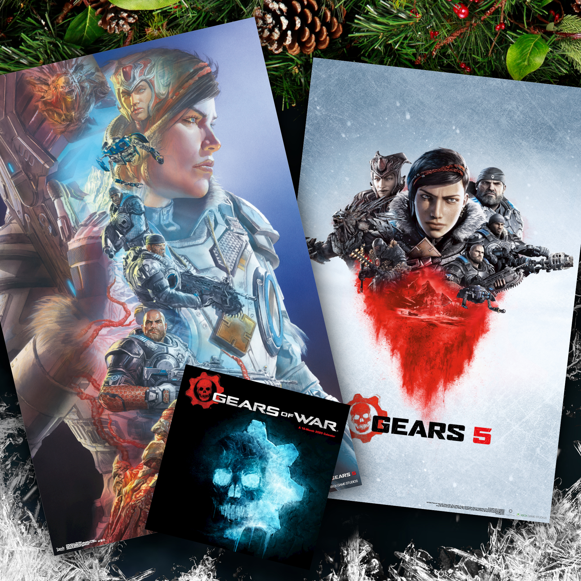 Gears 5 themed home decor items