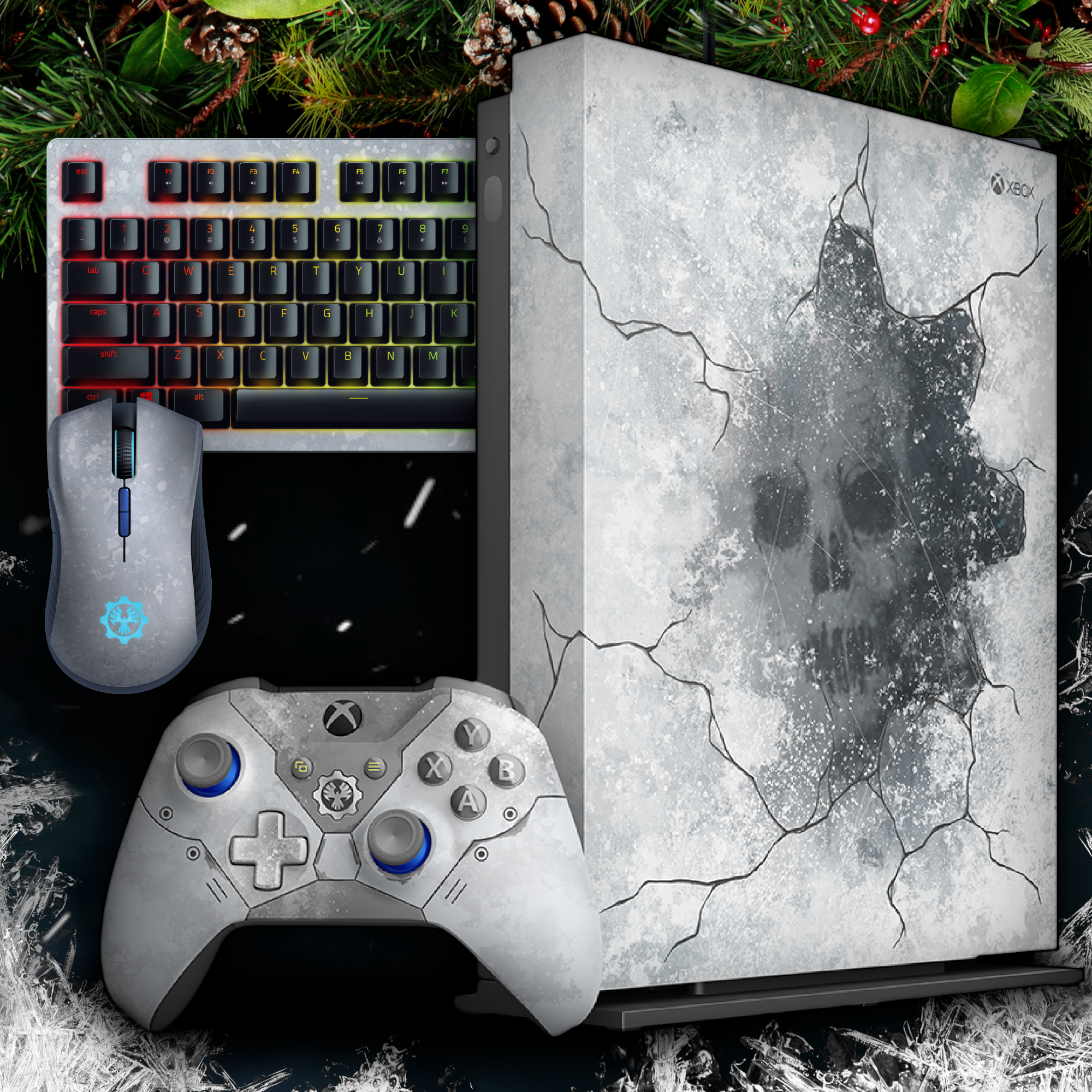 Gears 5 themed peripherals