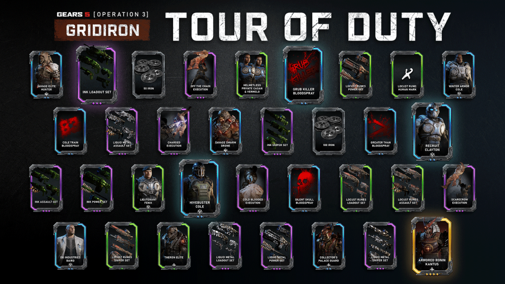 A series of Cards from the new Tour of Duty