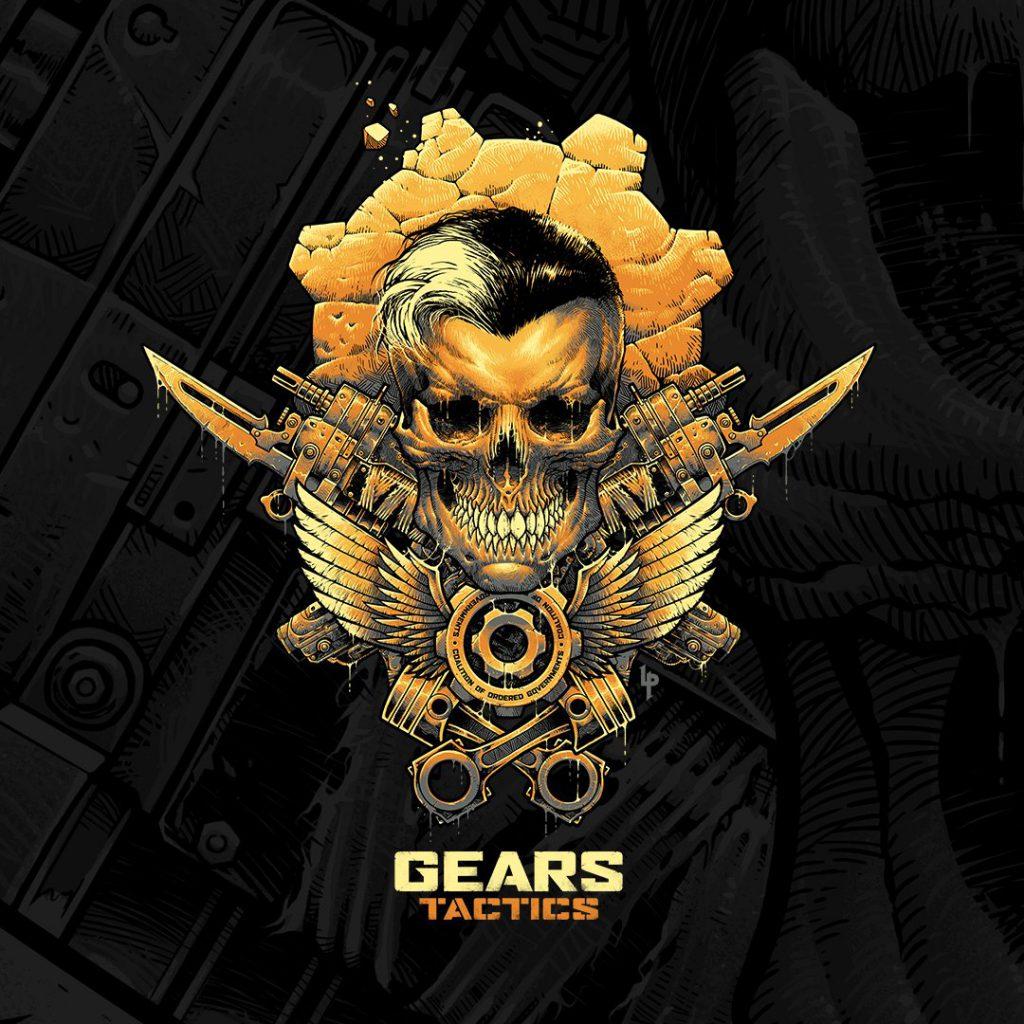 Luke Preece's special edition Gears Tactics skull logo