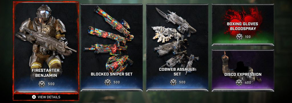 An example of the new items available in the store.