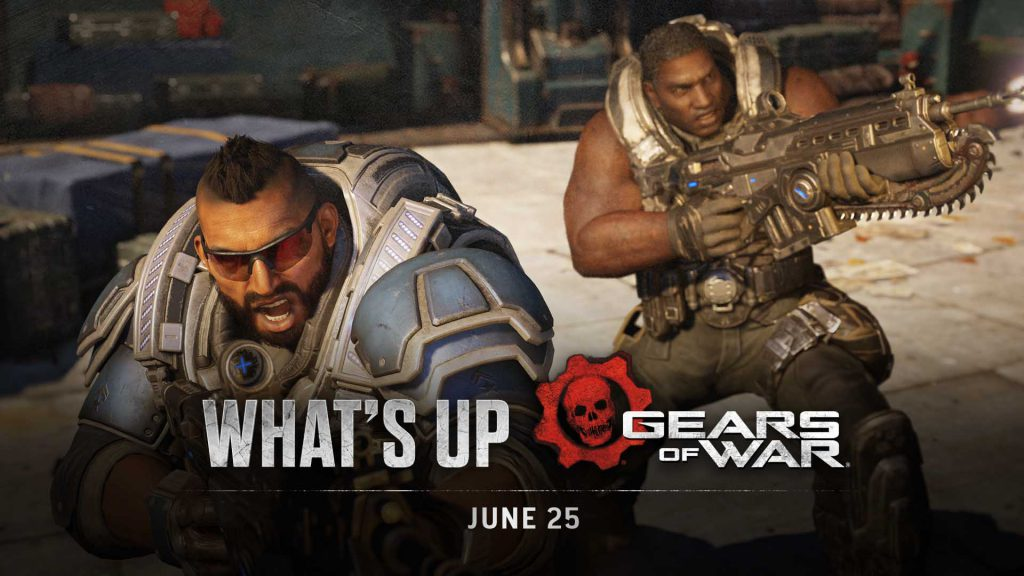 The What's up for Gears 5 Header image featuring Faz and Cole