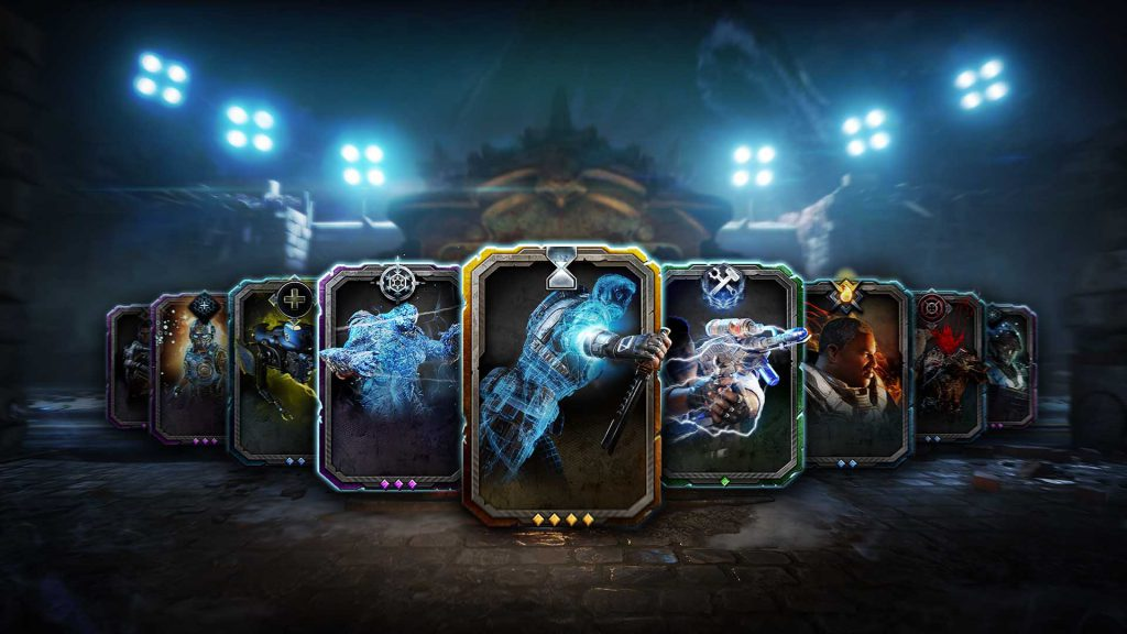 An example of nine skill cards for PVE combat