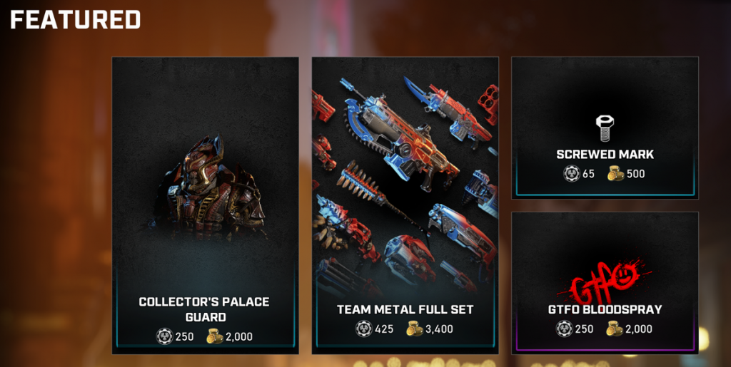Feature store items