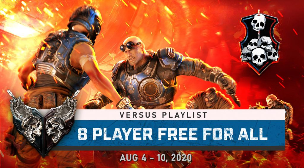 The Featured image for the 8 player free for all taking place in Gears 5 between Aug 4 and 10, 2020