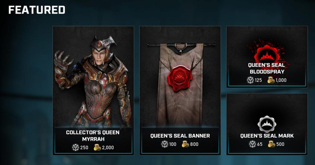 Featured items in the Gears store for July 28