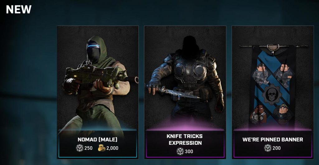 New items in the Gears store for July 28