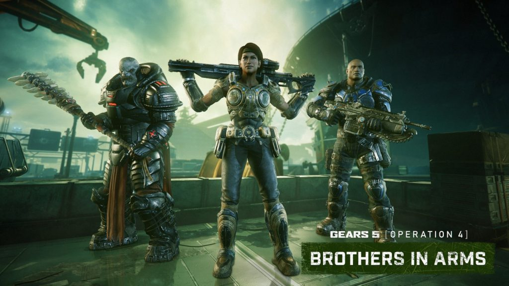 Three Gears 5 characters in different poses looking forward