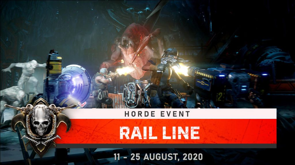 Attacking enemies in the latest Horde Event, Rail Line. Available until August 25, 2020