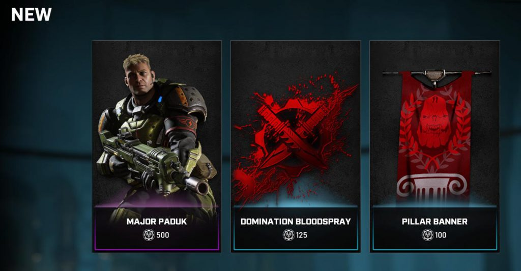 New items available in the Gears store
