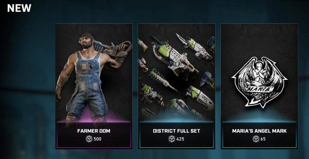 The new items in the Gears Store for August 18