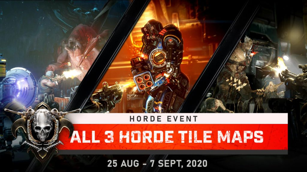 Horde event with all three horde tile maps available until Sept 7, 2020