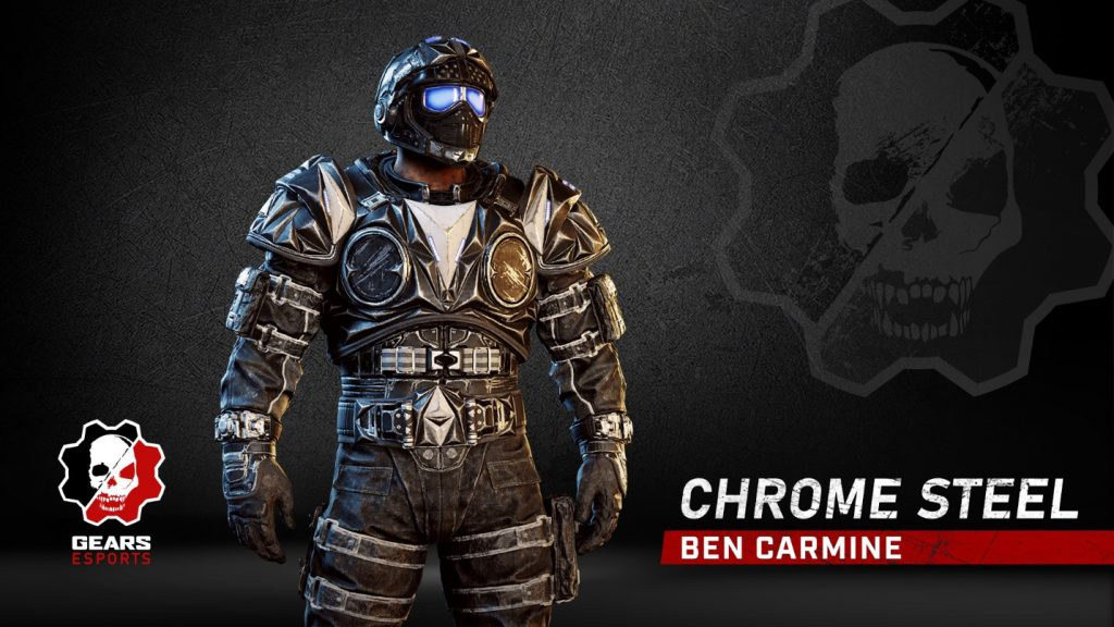 Chrome Steel Ben Carmine skin, now available in the Gears Store