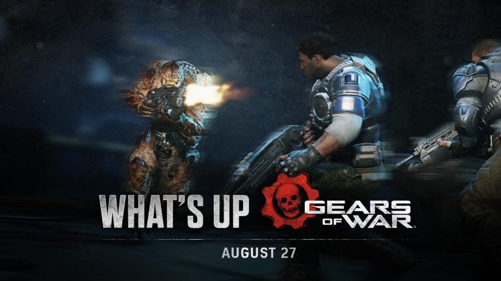 The blog header image for the Aug 27 What's Up Post, featuring a swarm enemy firing at some COG units
