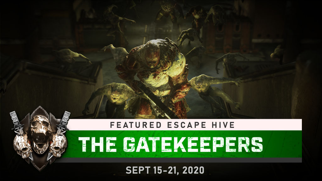 The Gatekeepers Featured Escape Hive Level, available until Sept 21, 2020