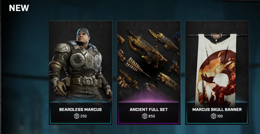The new items in the Gears store for the week of September 28, 2020