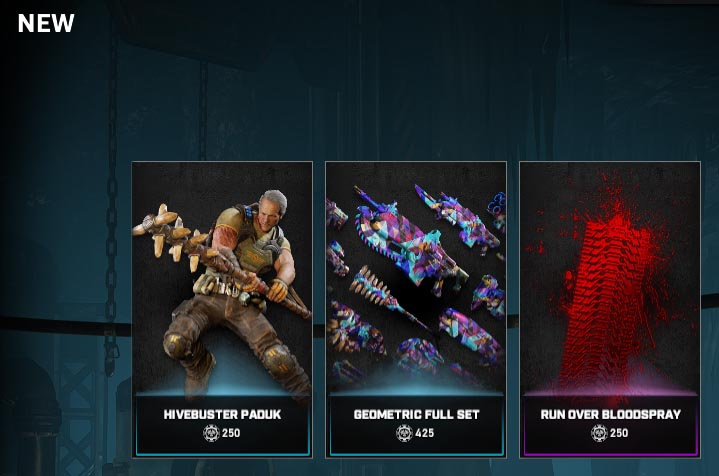 The new items in the Gears store for the week of October 6, 2020