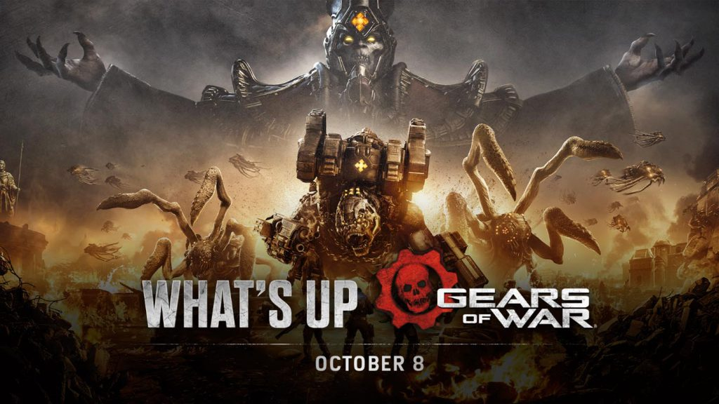 The header image for the October 8 edition of What's Up, featuring the Key Art for Gears Tactics