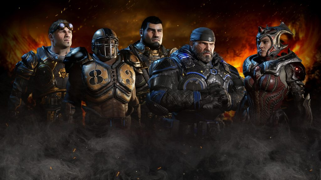 The Year 1 Bundle featuring classic skins of Damon, Cole, Marcus, Dom, and Myrrah