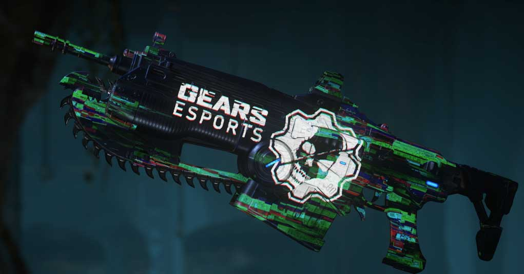 The Gears Esports Glitched Weapon Skin