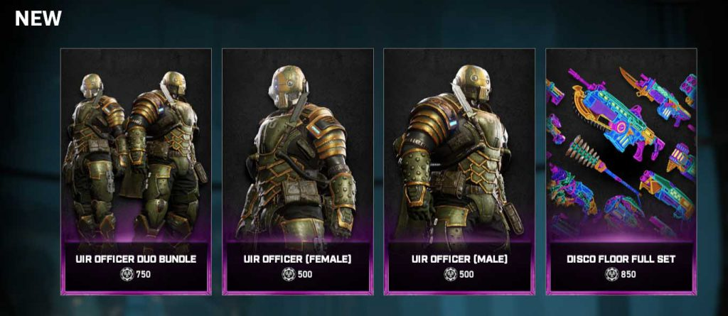 The new items from the Gears Store for the week of Nov 3, 2020