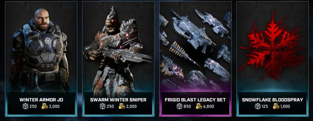 The featured items available now in the Gears Store from Dec 1 until Dec 7