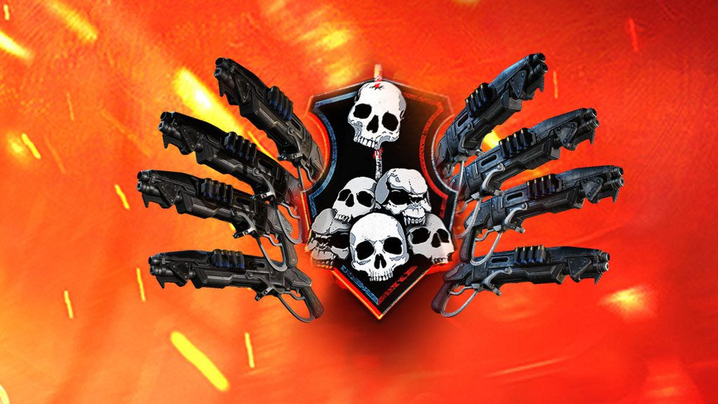 The Gnashers Only Free For All Emblem on an orange flame background