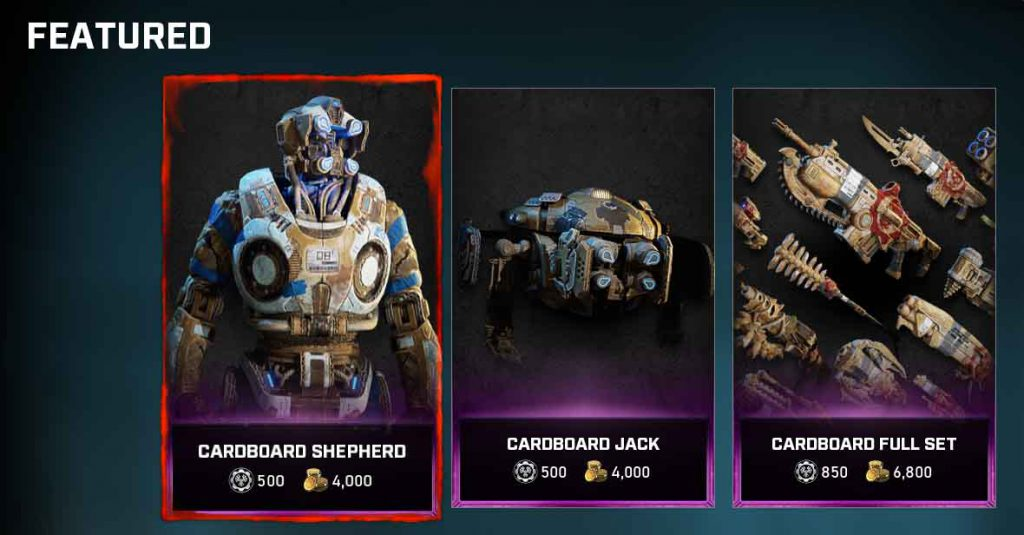The featured items for the Gear Store for Nov 10, 2020