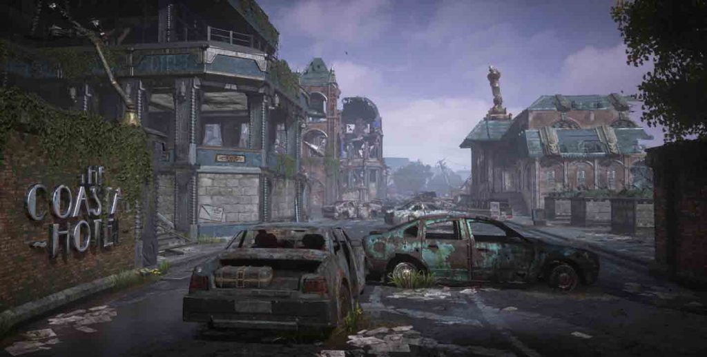 A destroyed city from the Gridlock Multiplayer Map