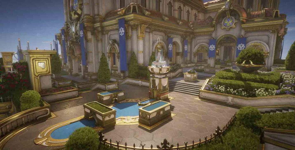 The courtyard of the Regency Multiplayer Map
