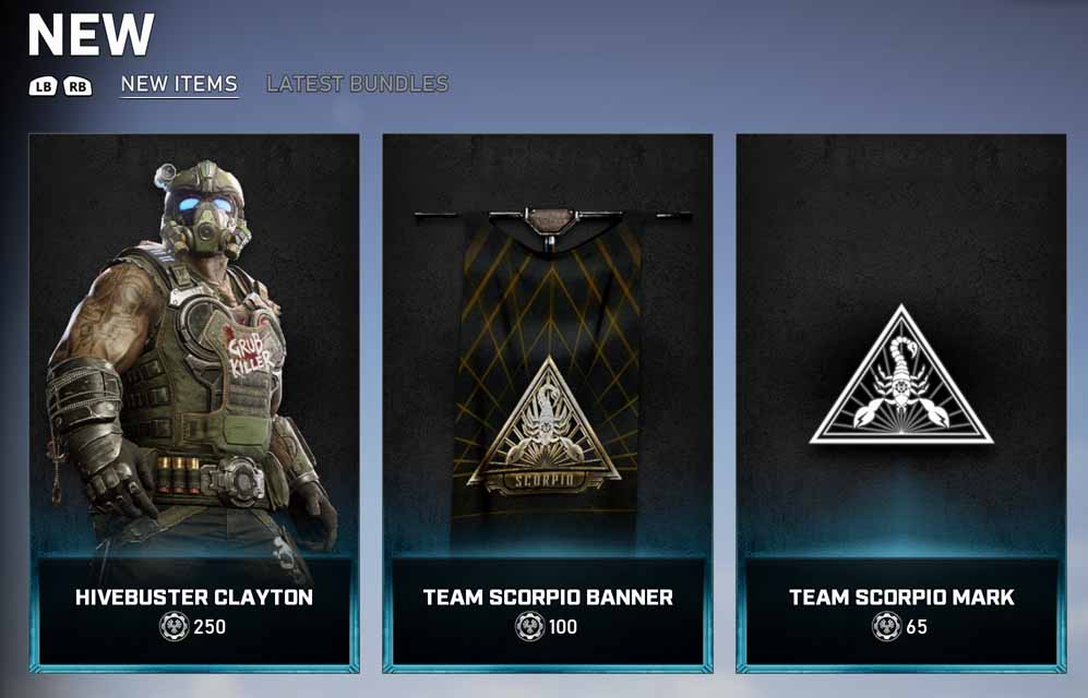 The new items for the Gear Store for December 8, 2020
