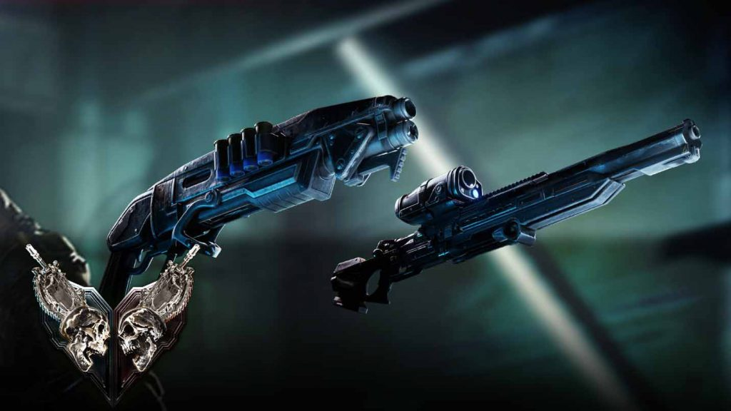 A gnasher and a sniper rifle, taken from this week's Versus Event