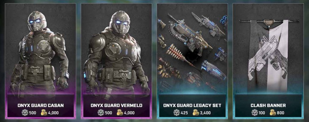 The featured items for the Gears Store, available now until Jan 18