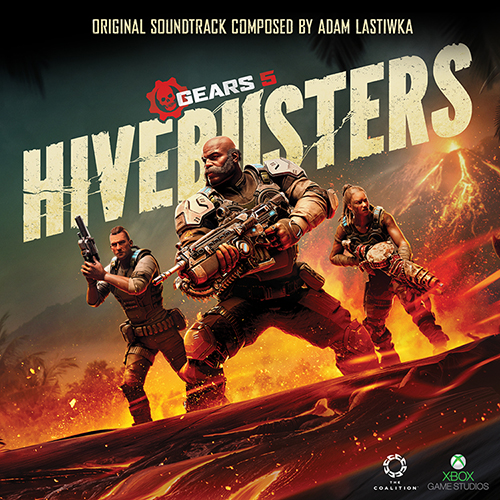 The Hivebusters OST Cover, featuring the three members of Scorpio Squad in active battle stances