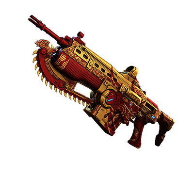 An example of the Lunar New Year Weapon Set for Gears 5