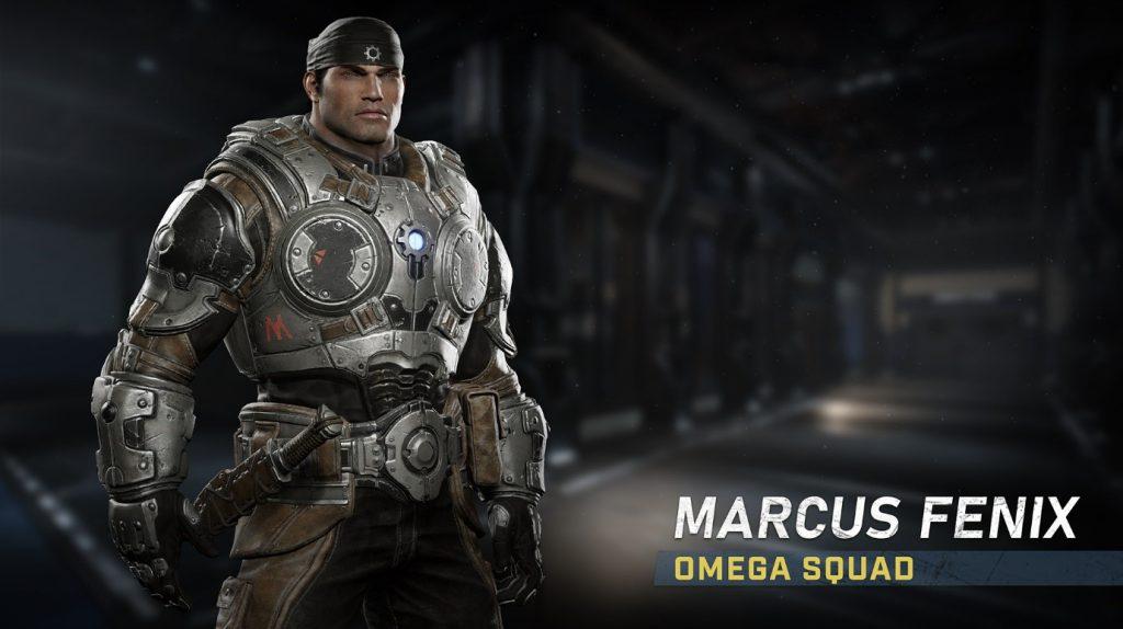 Marcus Fenix wearing his Omega Squad gear