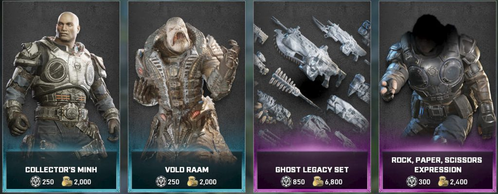 The featured items, now available in the Gears 5 store for the Week of March 2