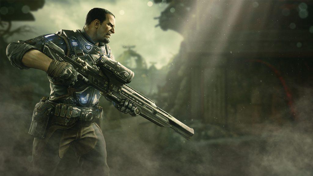 Chairman Prescott holding a sniper rifle
