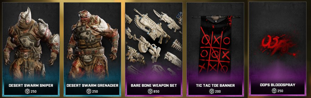 The new items for the Gears 5 Store, available starting June 1